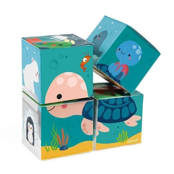 Janod - 4 cubes de bain