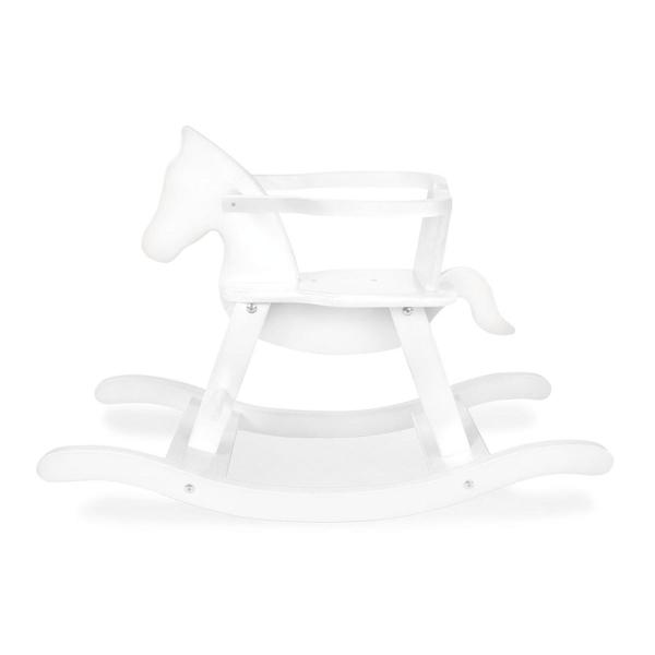 Pinolino - Cheval a bascule en bois laque blanc