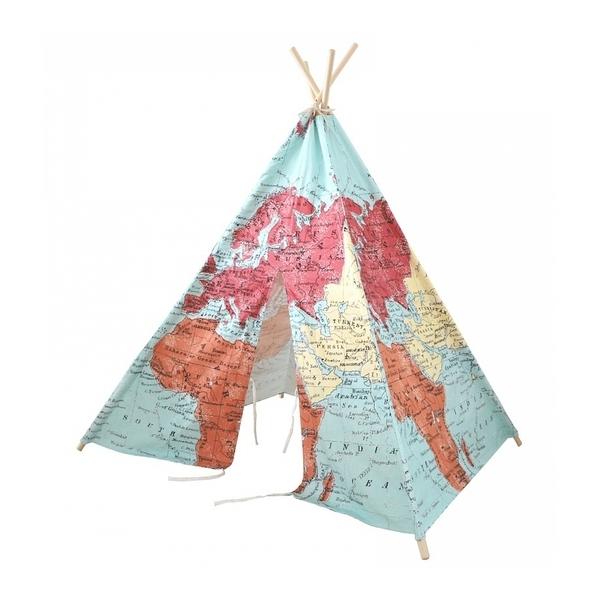 Sunny - Tipi World Map multicolore