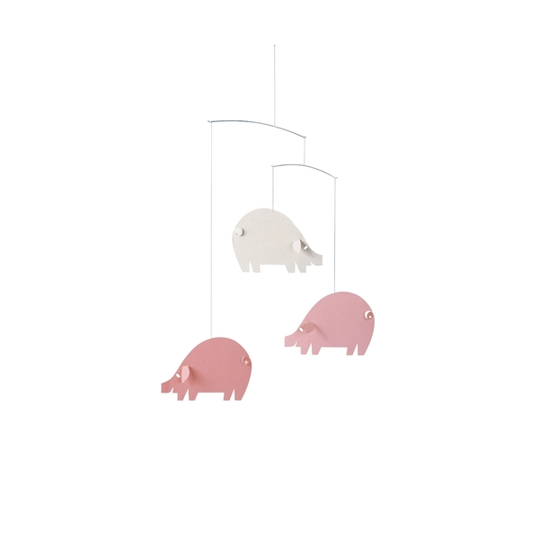 Flensted Mobiles - 3 cochons contents roses
