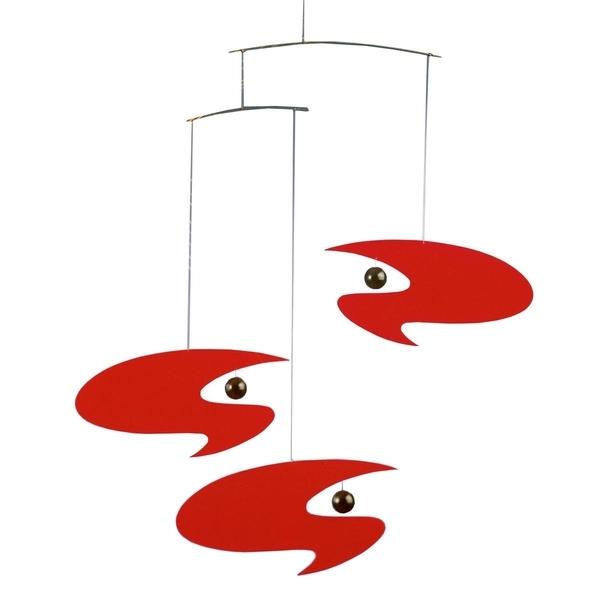 Flensted Mobiles - Mobile décoratif  Stella Nova Rouge