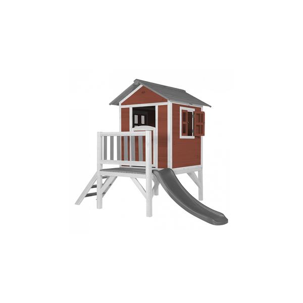 Axi - AXI Beach Lodge XL Maisonnette Scetinavian rouge Toboggan Gris