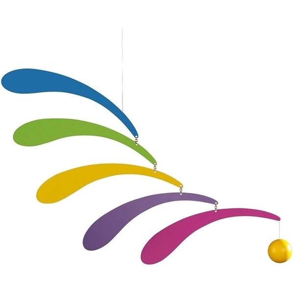 Flensted Mobiles - Mobile décoratif  Flowing Rhythm Rainbow