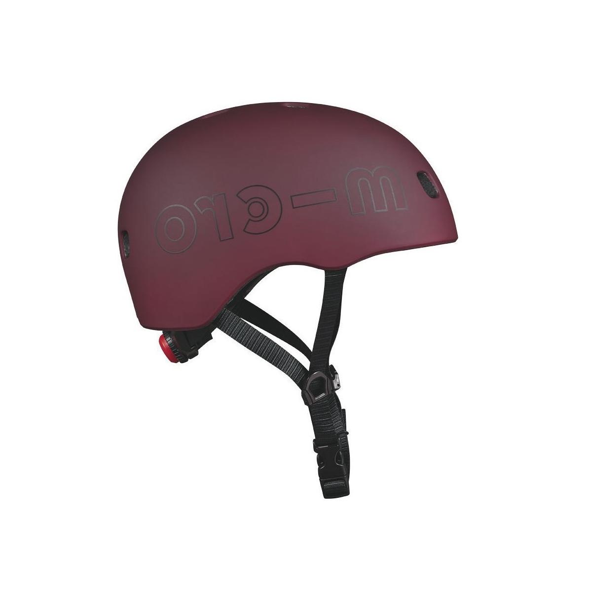 Micro - Mobility Casque Rouge Automne lumière LED intégrée Taille M