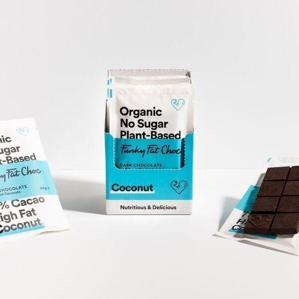 Funky Fat Foods - Chocolat noir avec de la noix de coco (sans sucre/low carb)