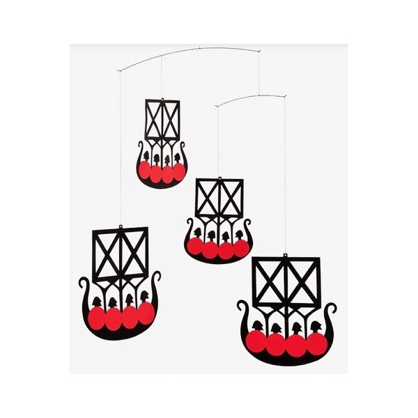 Flensted Mobiles - Mobile décoratif   Les 4 bateaux vikings