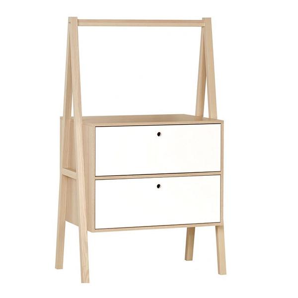 Vox - Commode 2 tiroirs Spot - Blanc