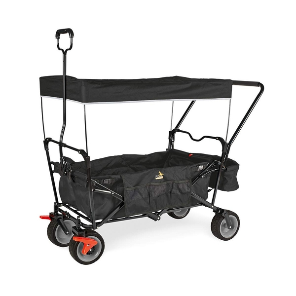 Pinolino - Wagon pliant Paxi Dlx Comfort avec frein Noir