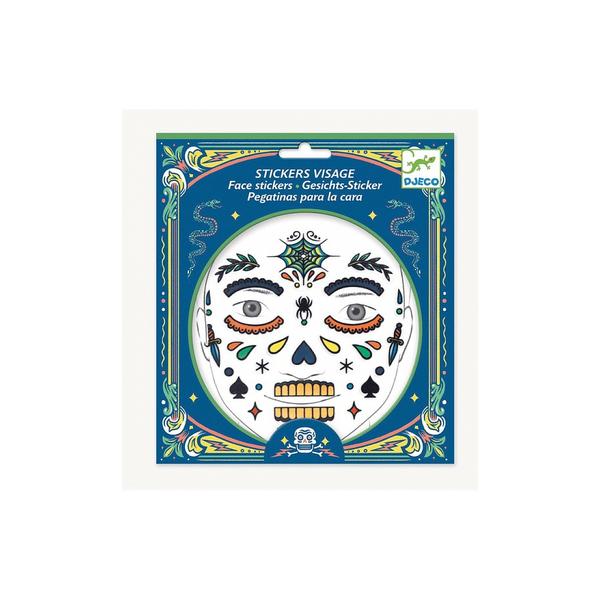 Djeco - Stickers Visage Tete de mort