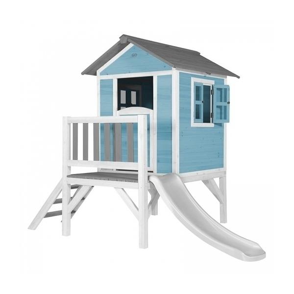 Axi - AXI Maisonnette Lodge XL en bois Bleue toboggan Blanc
