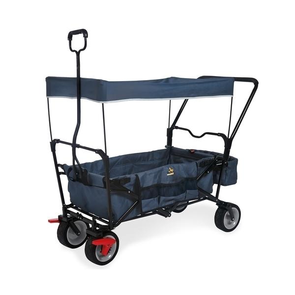Pinolino - Wagon pliant Paxi Dlx Comfort avec frein Bleu Marine