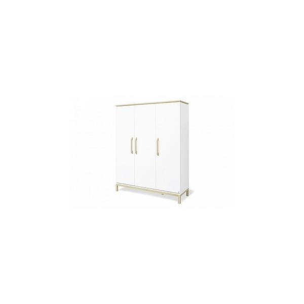 Pinolino - Armoire Light grande 6 étagères 3 portes Blanc