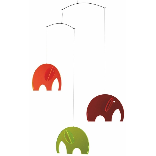 Flensted Mobiles - Mobile décoratif  Olephants Plexiglass