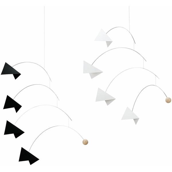 Flensted Mobiles - Mobile décoratif  Mirage, blanc/noir