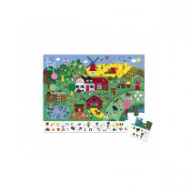 Janod - Puzzle observation la ferme 24 pcs