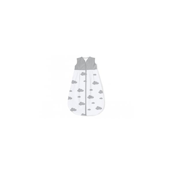 Pinolino - Gigoteuse en percale Wölkchen gris clair hiver 70 cm