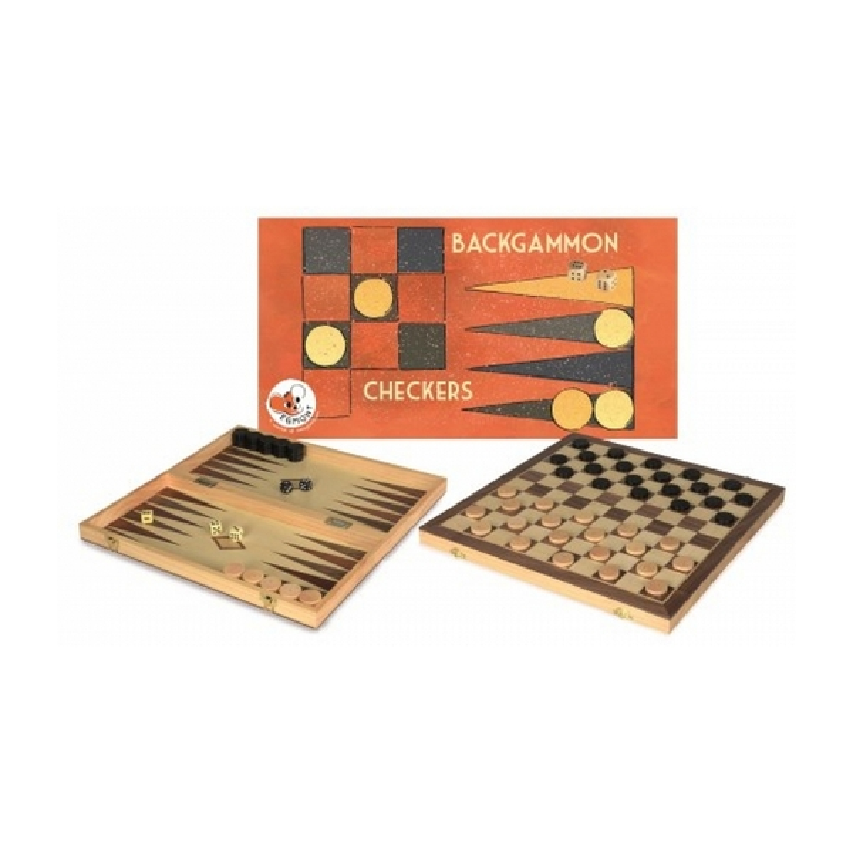 Egmont Toys - Jeu de dames et backgammon