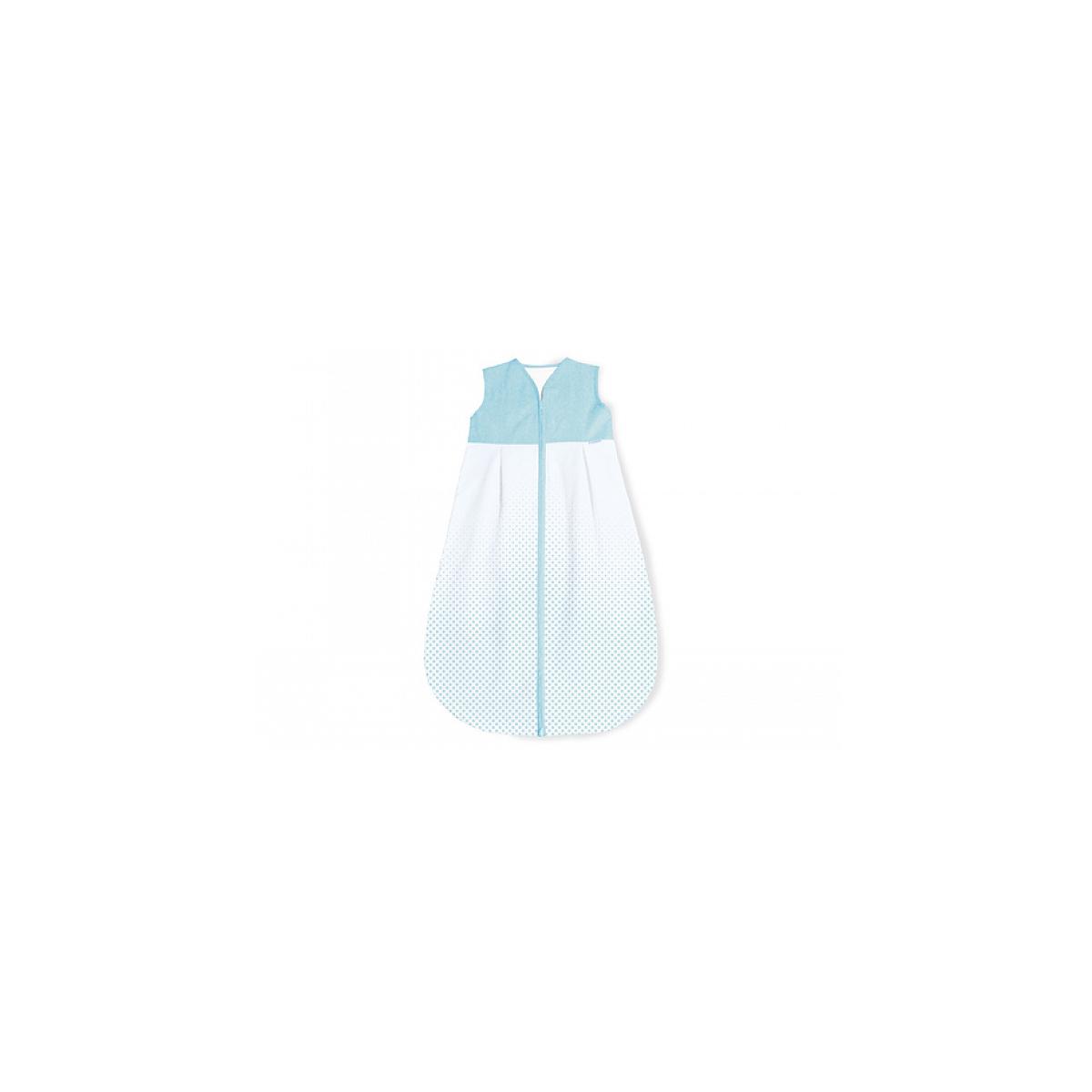 Pinolino - Gigoteuse en percale Running Stars bleu clair hiver 110 cm