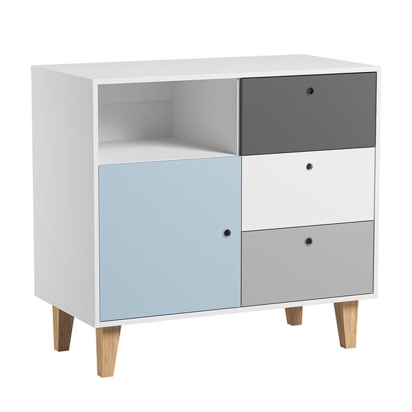 Vox - Commode à langer Concept - Bleu