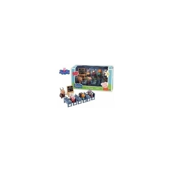 Giochi preziosi - Peppa Pig Salle de classe avec 7 personnages