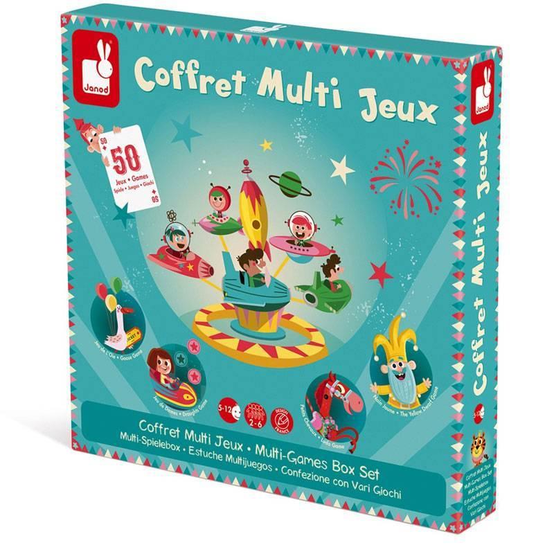 Janod - Coffret multi jeux carrousel