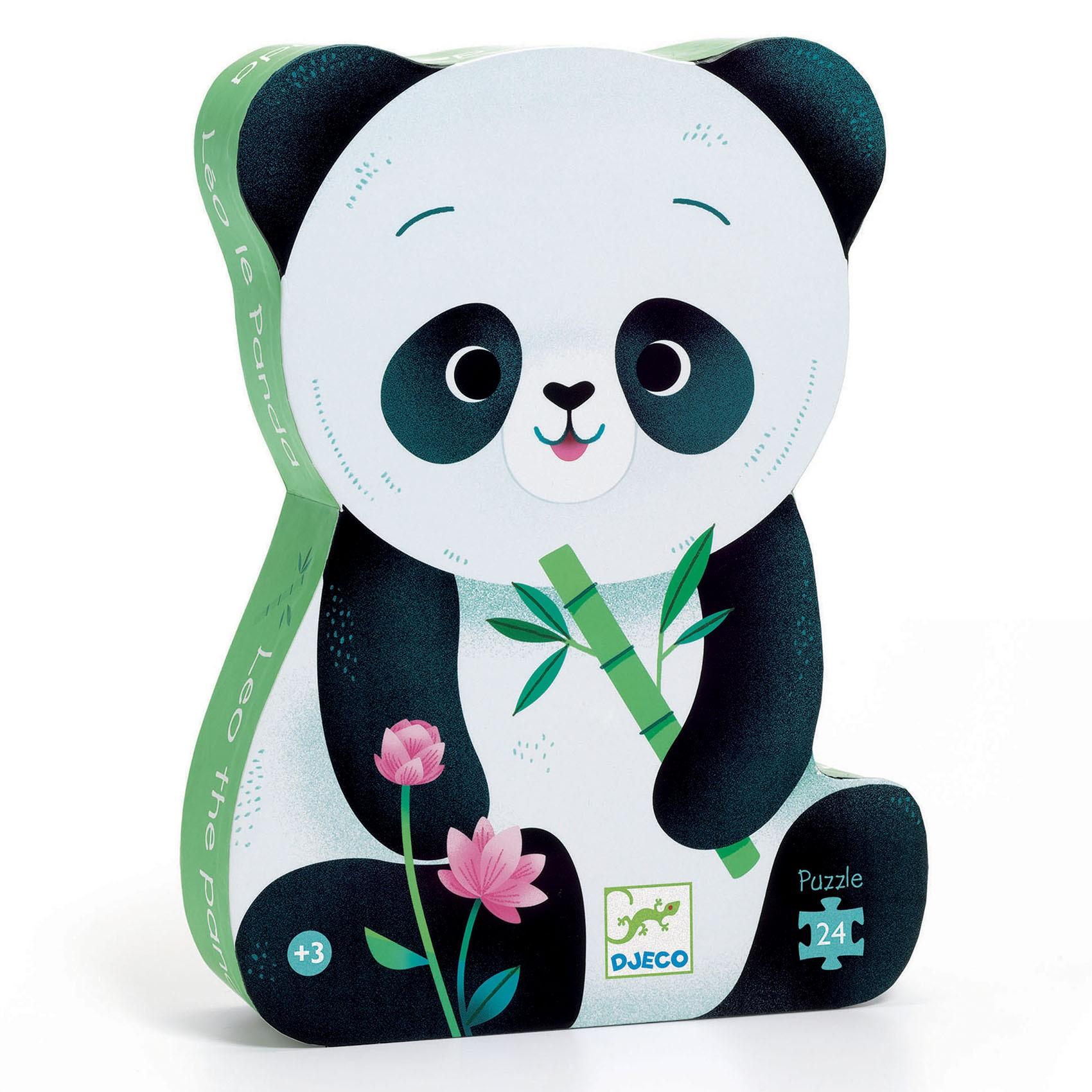 Djeco - Puzzle 24 Pièces Léo Le Panda
