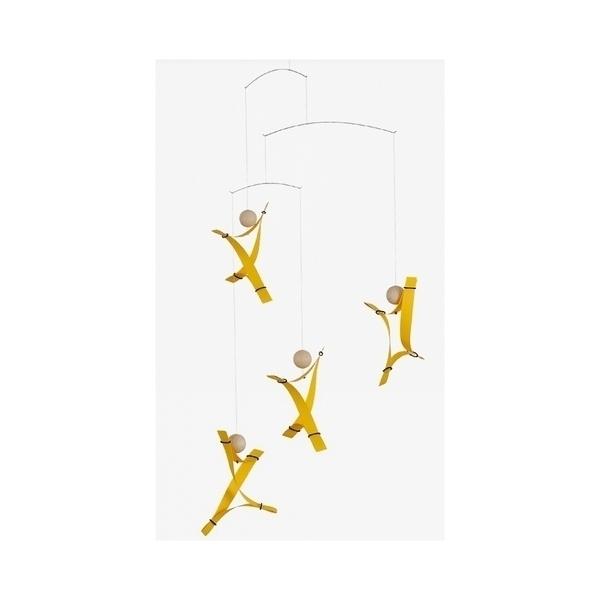 Flensted Mobiles - Mobile décoratif  Free Mind jaune