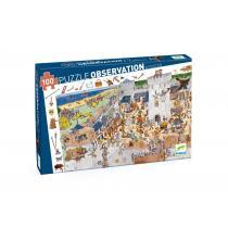 Djeco - Puzzle D'Observation - Les Chevaliers 54 Pièces