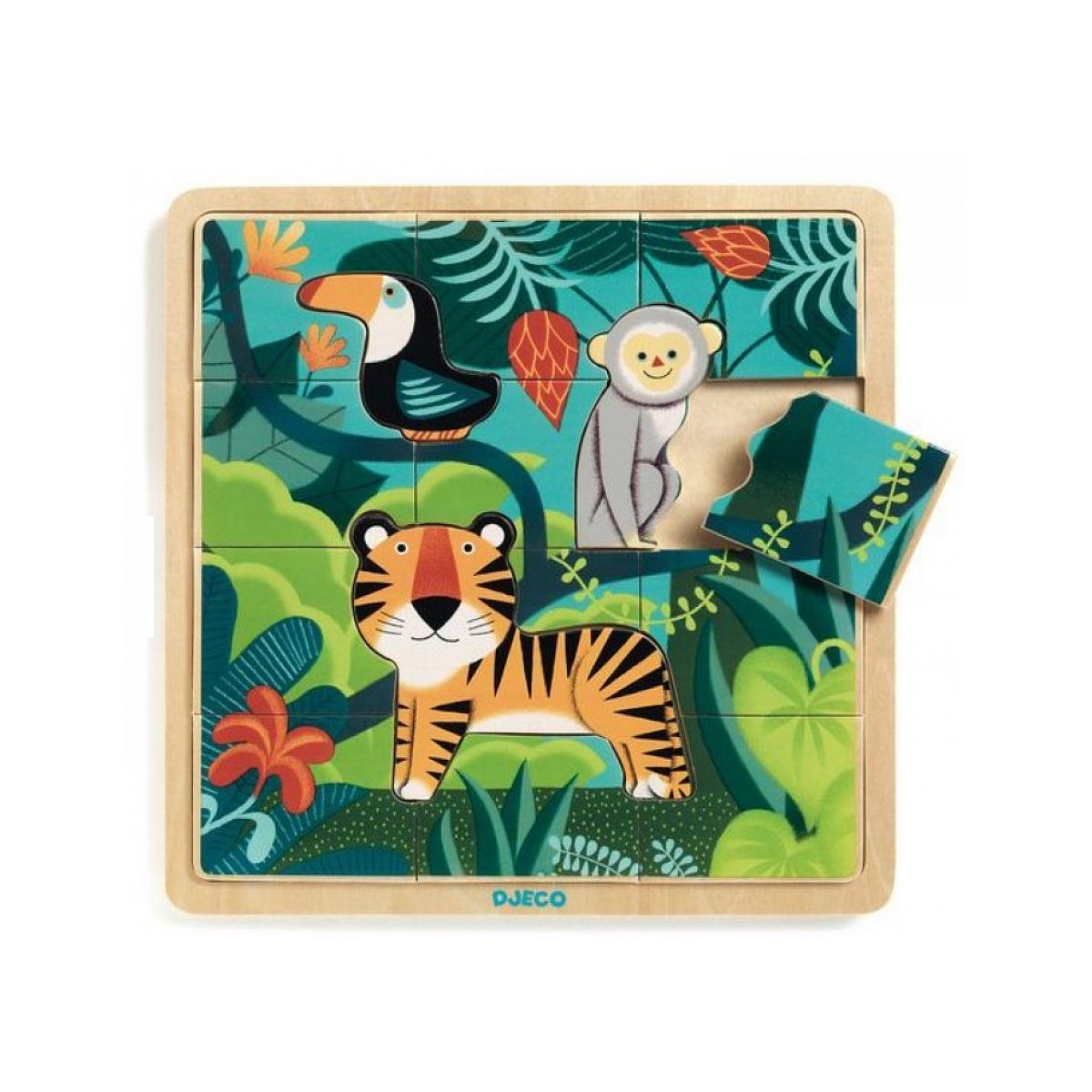 Djeco - Puzzle Puzzlo Jungle