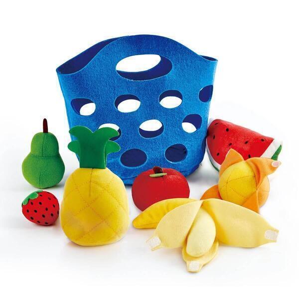 Hape - Panier feutrine fruits pour enfant