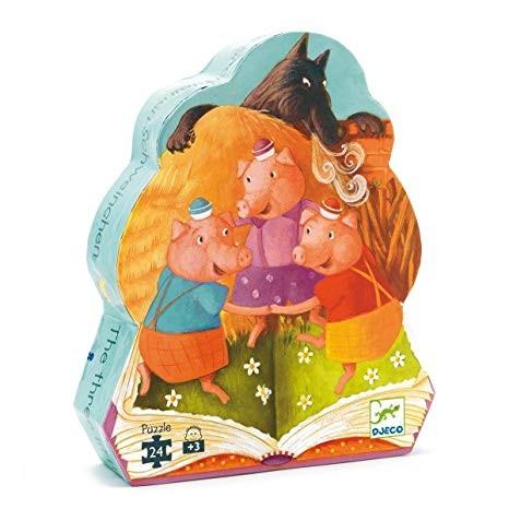 Djeco - Puzzle Les 3 Petits Cochons 24 Pièces