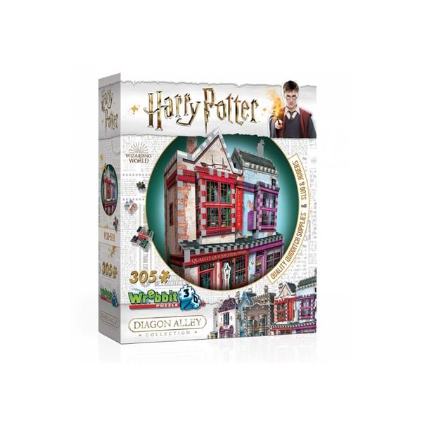 Wrebbit - Puzzle 3D HP Magasin d'Accessoires de Quidditch 305 pieces