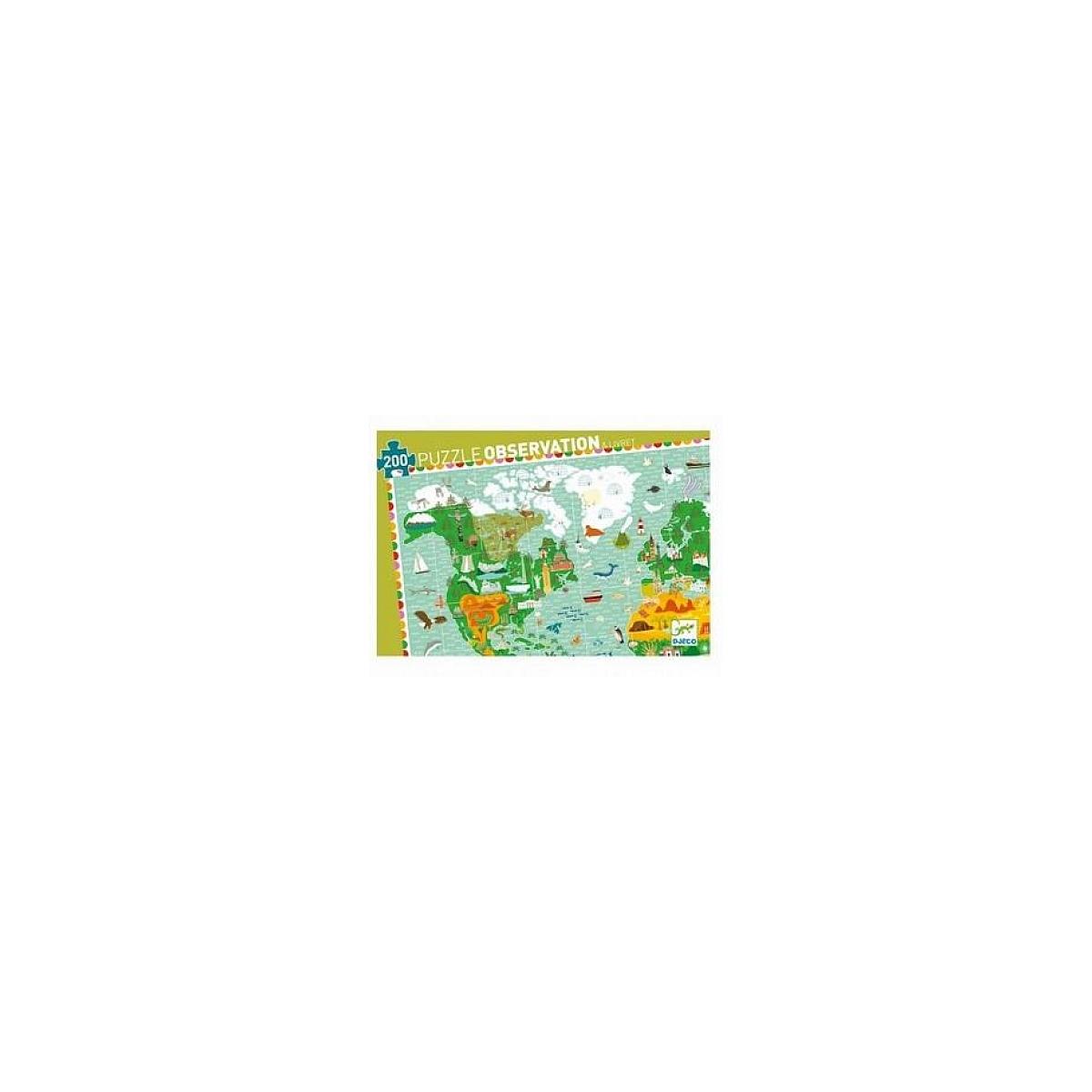 Djeco - Puzzle Observation 200p Tour du monde