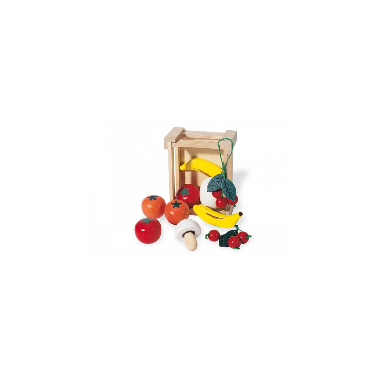 Pinolino - 221403 Cagette avec des fruits et legumes en bois