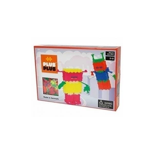Plus Plus - ++ BOX Mini Neon Robots 760 pcs