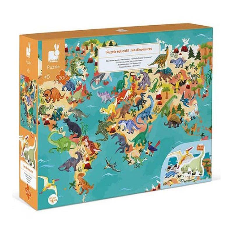 Janod - Puzzle educatif les dinosaures 200 pieces