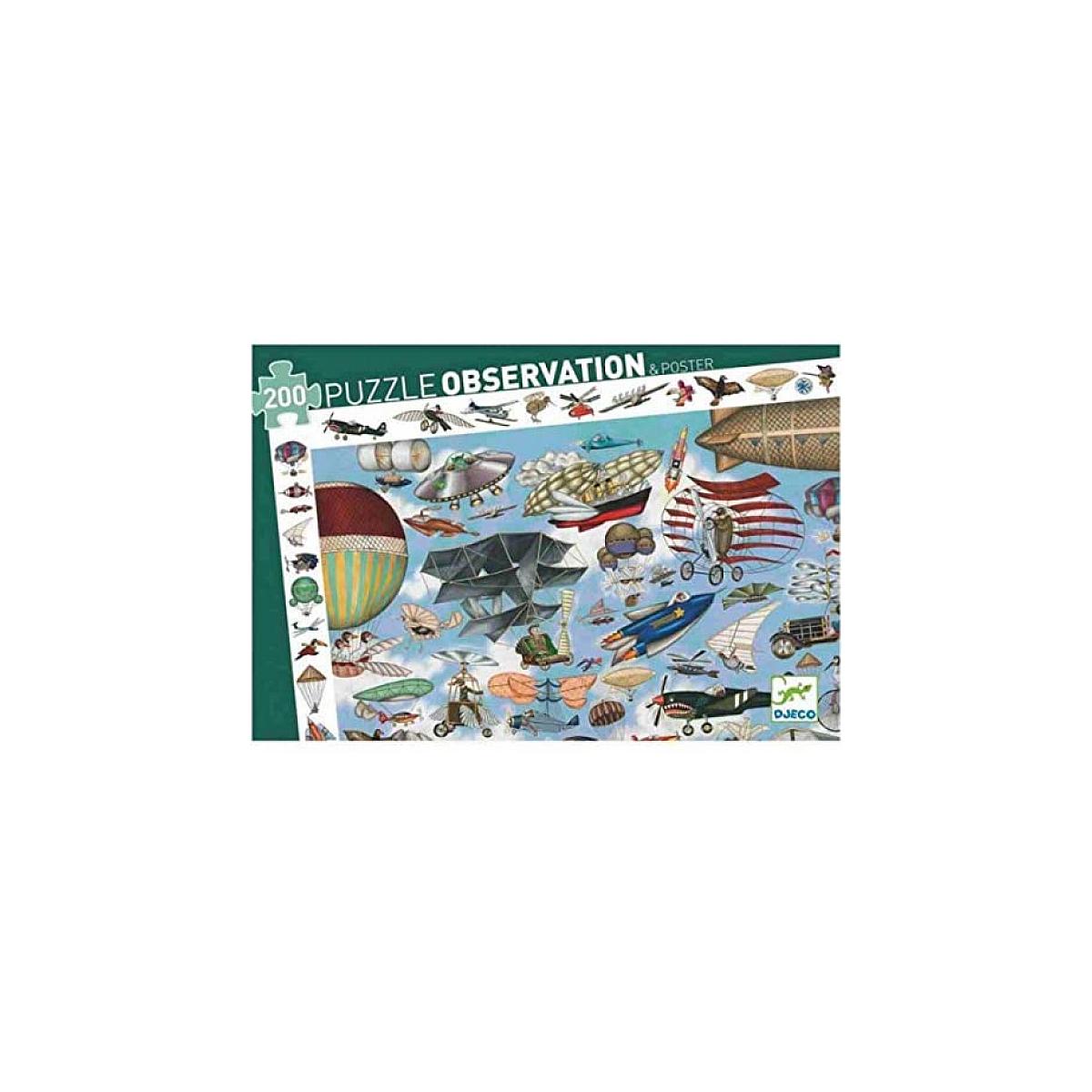 Djeco - Puzzle D'Observation 200 Pièces - Aéro Club
