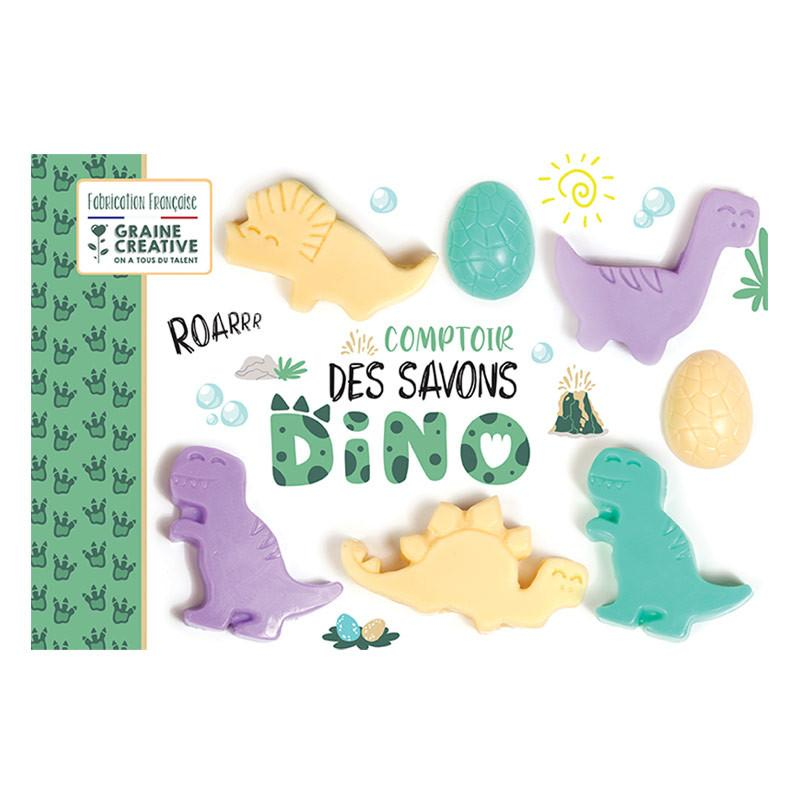 Graine Creative - Coffret comptoir des savons dinosaures
