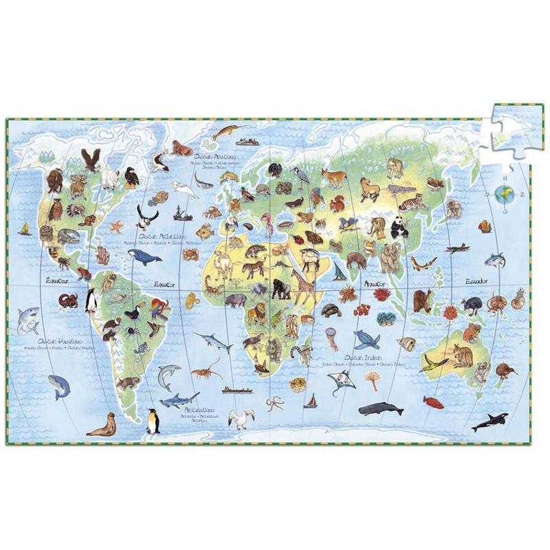 Djeco - Puzzle Observation 100p Les animaux du monde