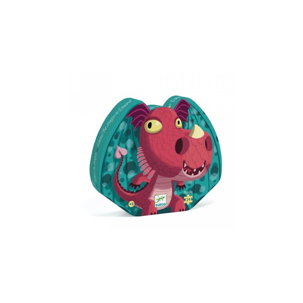 Djeco - Puzzle Edmond le dragon 24 pcs