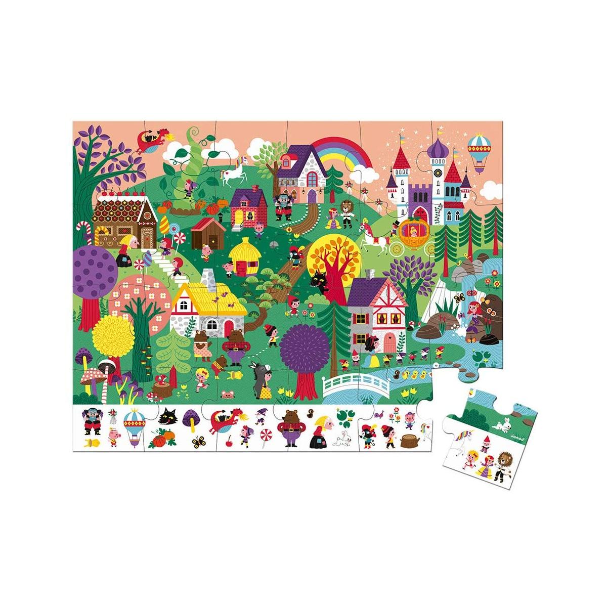 Janod - Puzzle d'observation les contes 24 pièces