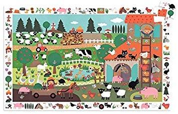 Djeco - Puzzle D'Observation La Ferme 35 Pièces