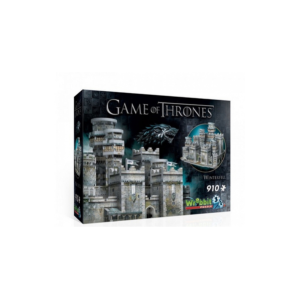 Wrebbit - Puzzle 3D Game of Thrones Winterfell  910 pièces