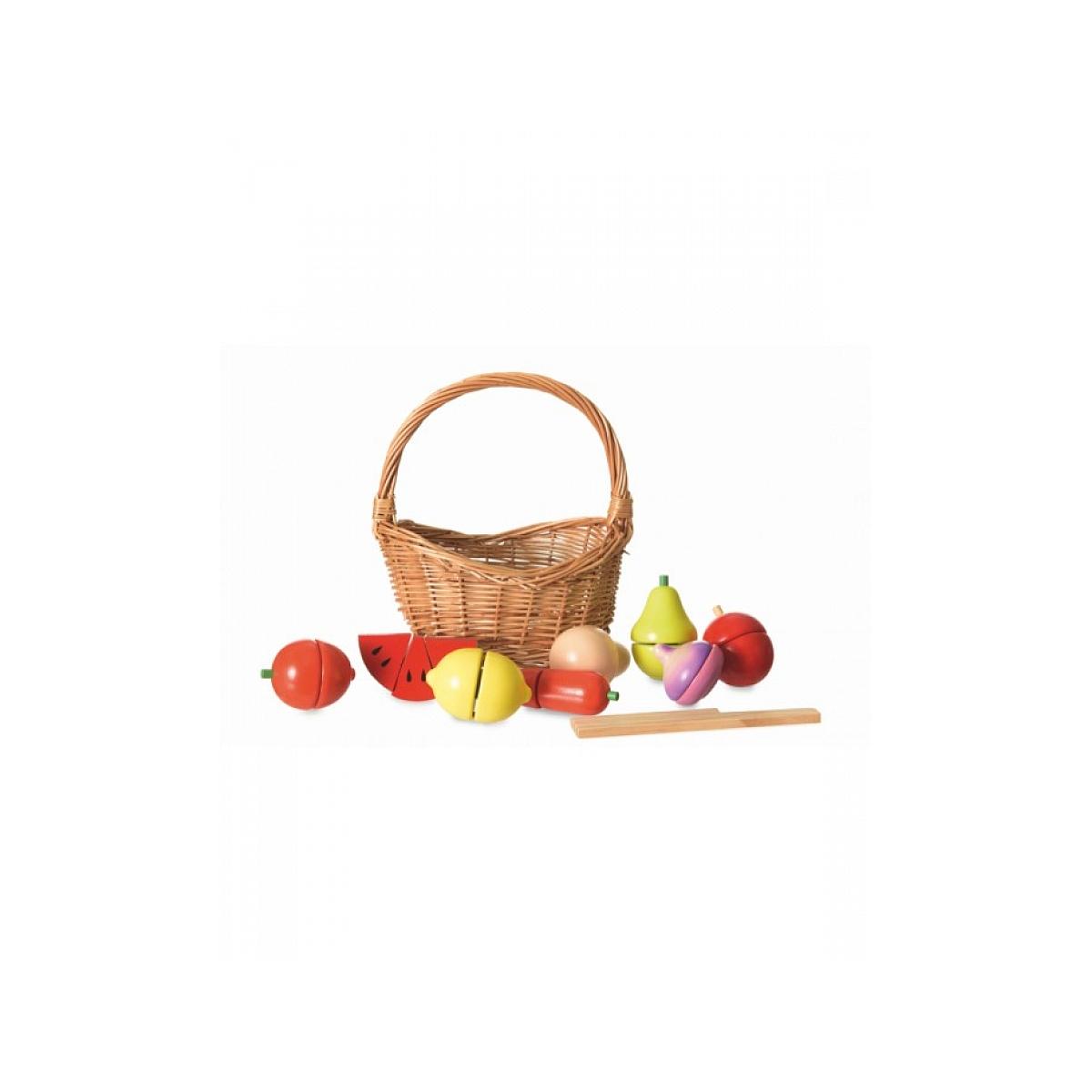 Egmont Toys - Set de fruits et legumes en bois  dans son panier