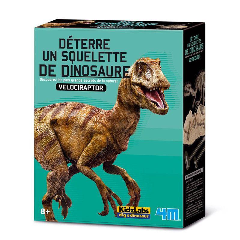 4M - Deterre ton dinosaure Velociraptor