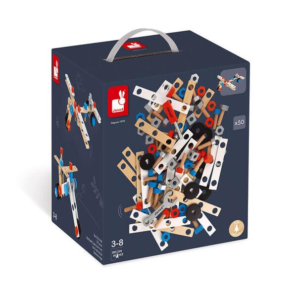 Janod - Baril brico kids 50 pieces