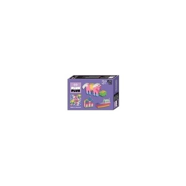 Plus Plus - ++ Box 3 en 1 Mini Pastel - 480 pieces