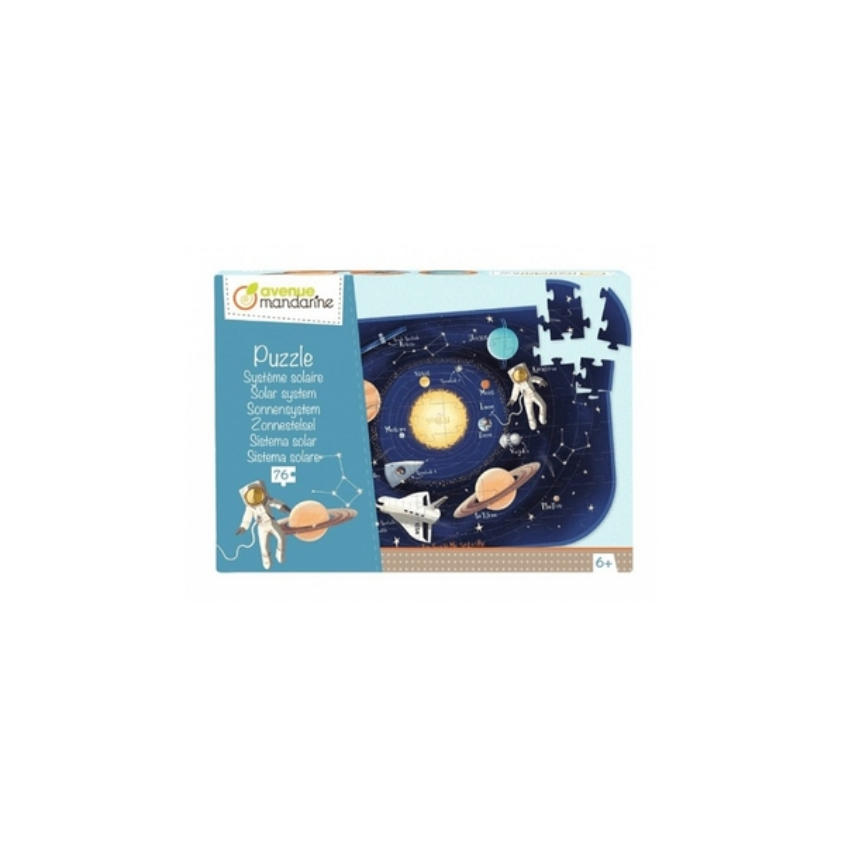 Avenue Mandarine - Puzzle Systeme solaire 76 p