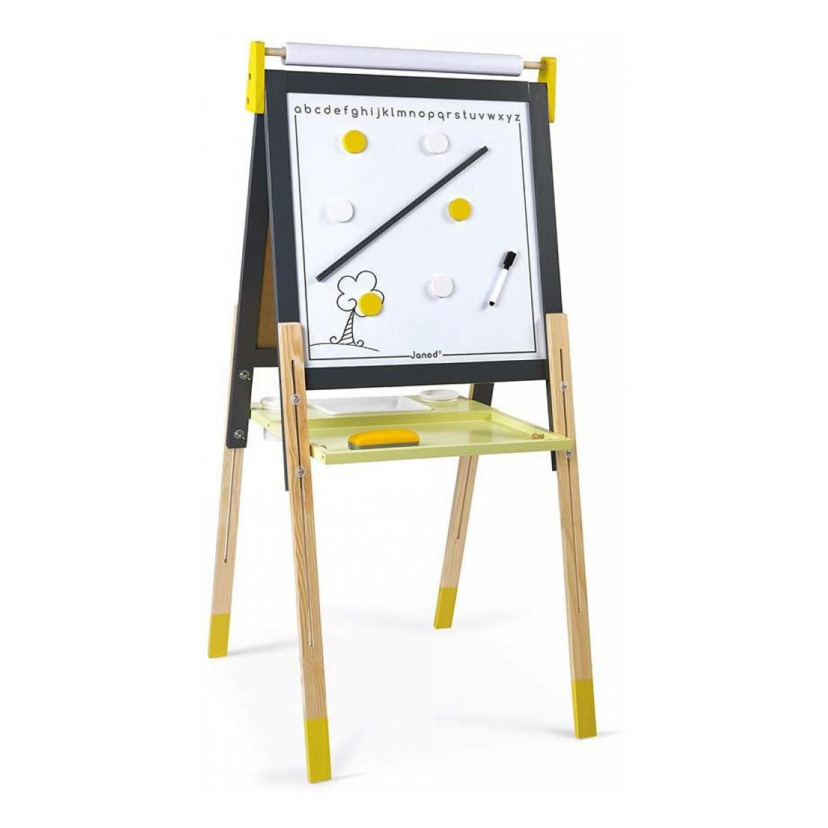 Janod - Tableau reglable gris jaune