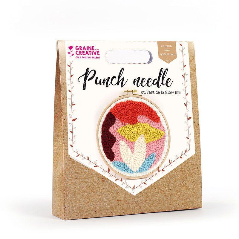 Graine Créative - Coffret Punch needle Ø 20 cm - Abstrait